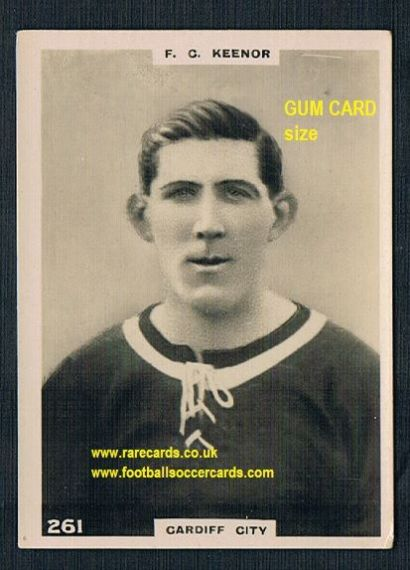 1921 Pinnace GUM CARD SIZE 261 Keenor Cardiff card OVAL